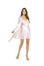 Satin & Lace Nightdress & Robe Set - Rose