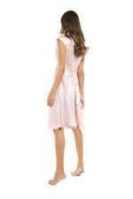 Satin & lace Midi Length Nightdress - Rose Pink
