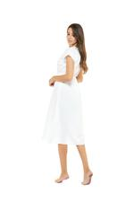 Jaquard Cotton Short Jalabiya - White