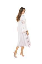 Satin Long Nightdress & Robe Set - Rose Pink