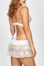 Sexy Satin Babydoll with a lace skirt - Rose