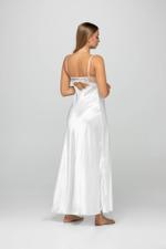 Victoria Bridal Satin & Lace Nightdress & Robe Set - White