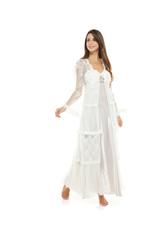 Lily Bridal Satin & Lace Nightdress & Robe Set - Beige