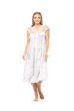 Satin Midi length Nightdress - Rose Pink