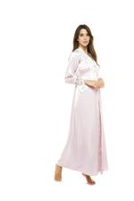 Satin 2 Piece Jalabiya Robe Set - Rose