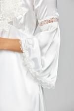 Satin Midi Nightdress & Robe Set - White