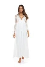 Sweet Pea Lace Long Nightdress & Robe Set - White