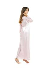 Satin & Tulle Long Maternity Jalabiya - Rose Pink