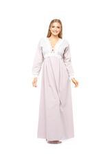 Long Cotton Jalibiya with lace and polkadot detail - Rose Pink