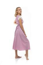 Jaquard Cotton Short Jalabiya - Rose Pink
