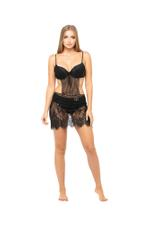Black Lace Short Nightdress