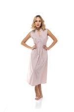 Jaquard Cotton Short Sleeveless Jalabiya - Rose Pink