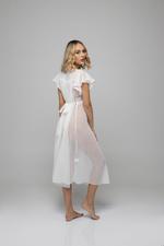 Midi Chiffon Nightdress with lace detail - White