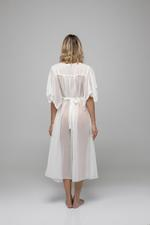 Midi Chiffon Nightdress with lace detail - White