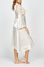 Satin Midi Nightdress & Robe Set - Beige