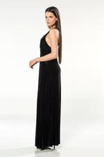 Long Velvet Nightdress - Black