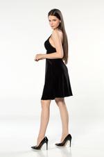 Short Velvet Nightdress - Black