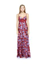 Floral Printed Jorse Nightdress - Bordeaux