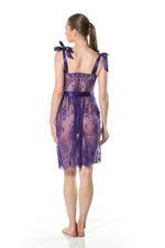 Full Lace Midi Nightdress - Purple