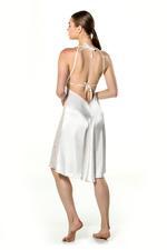 Satin & Lace Midi Nightdress & Robe Set - White