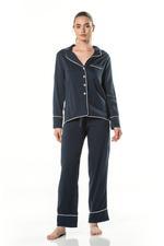 Cotton Pyjama - Navy Blue