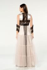Satin & Tulle Nightdress & Robe Set - Ecru
