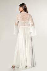 Chiffon & Lace Nightdress & Robe Set - Ivory