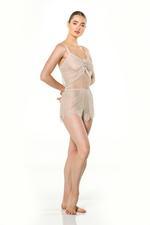 Lace Cami & Shorts Set - Beige