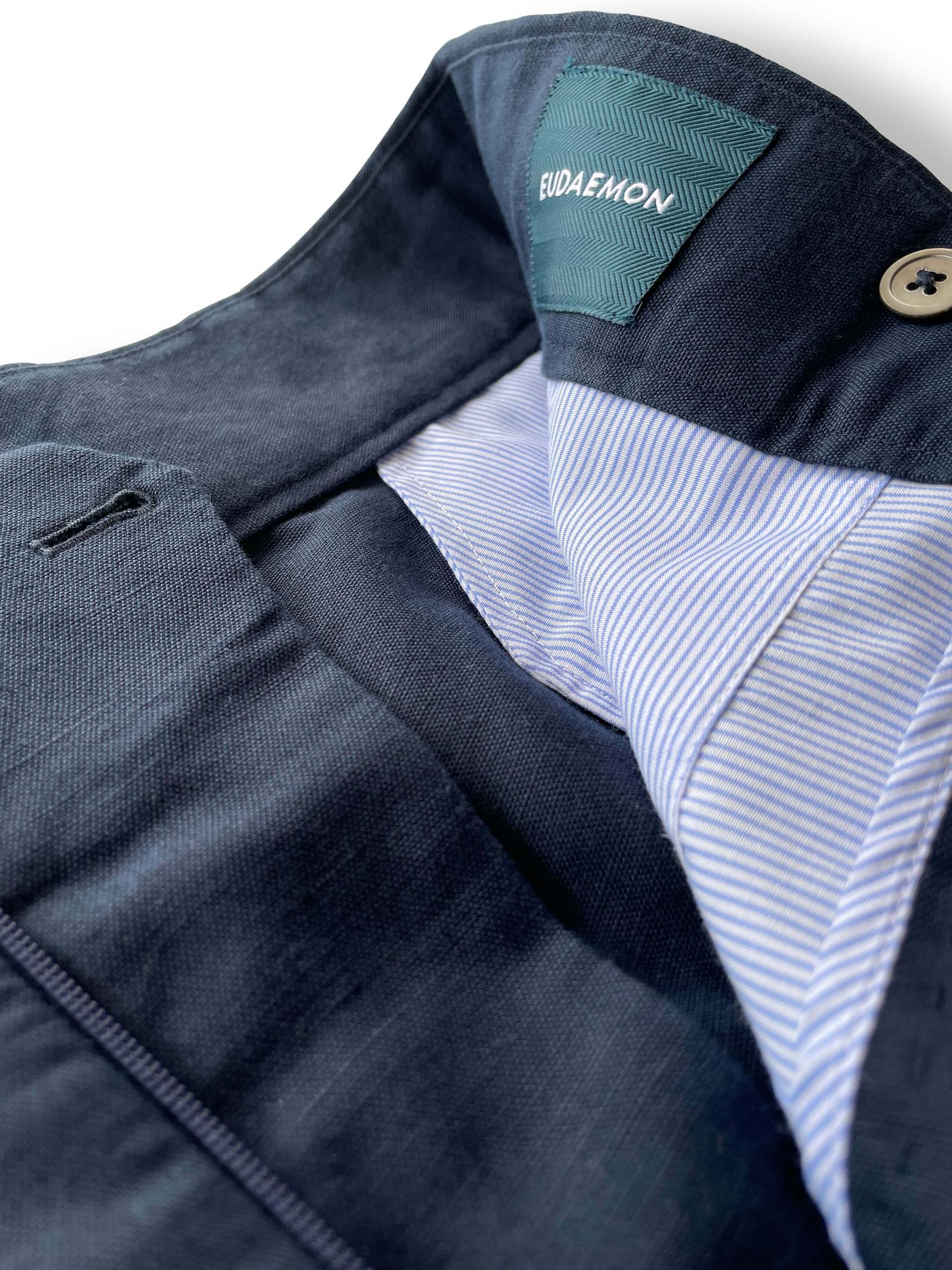 Gurkha Shorts - Blue Linen