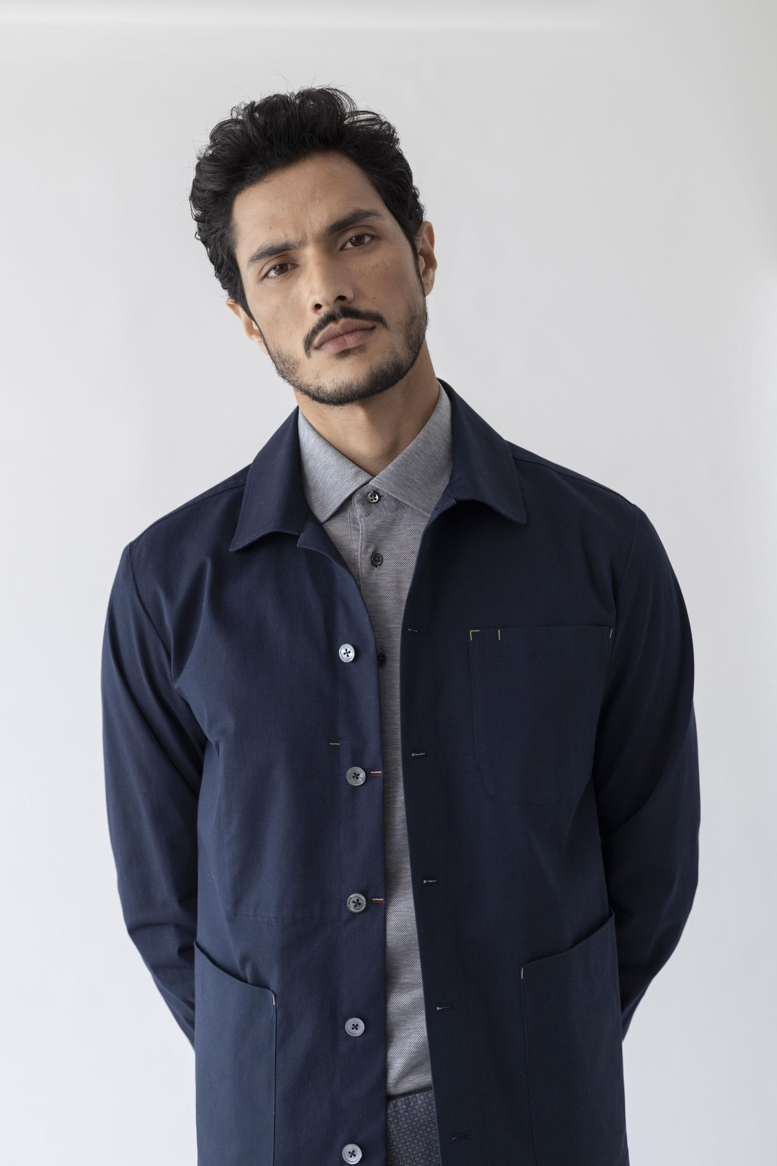 The All Day Masters Jacket - Navy Cotton