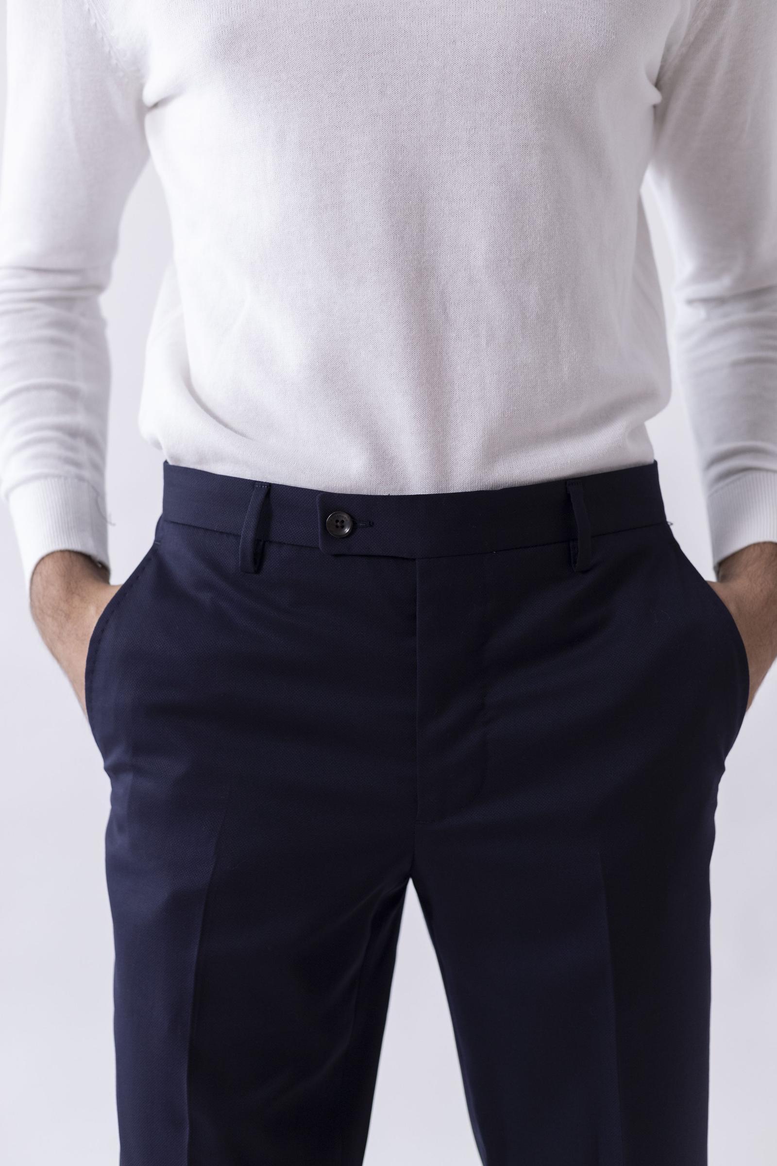 Worko Trouser - Navy Merino