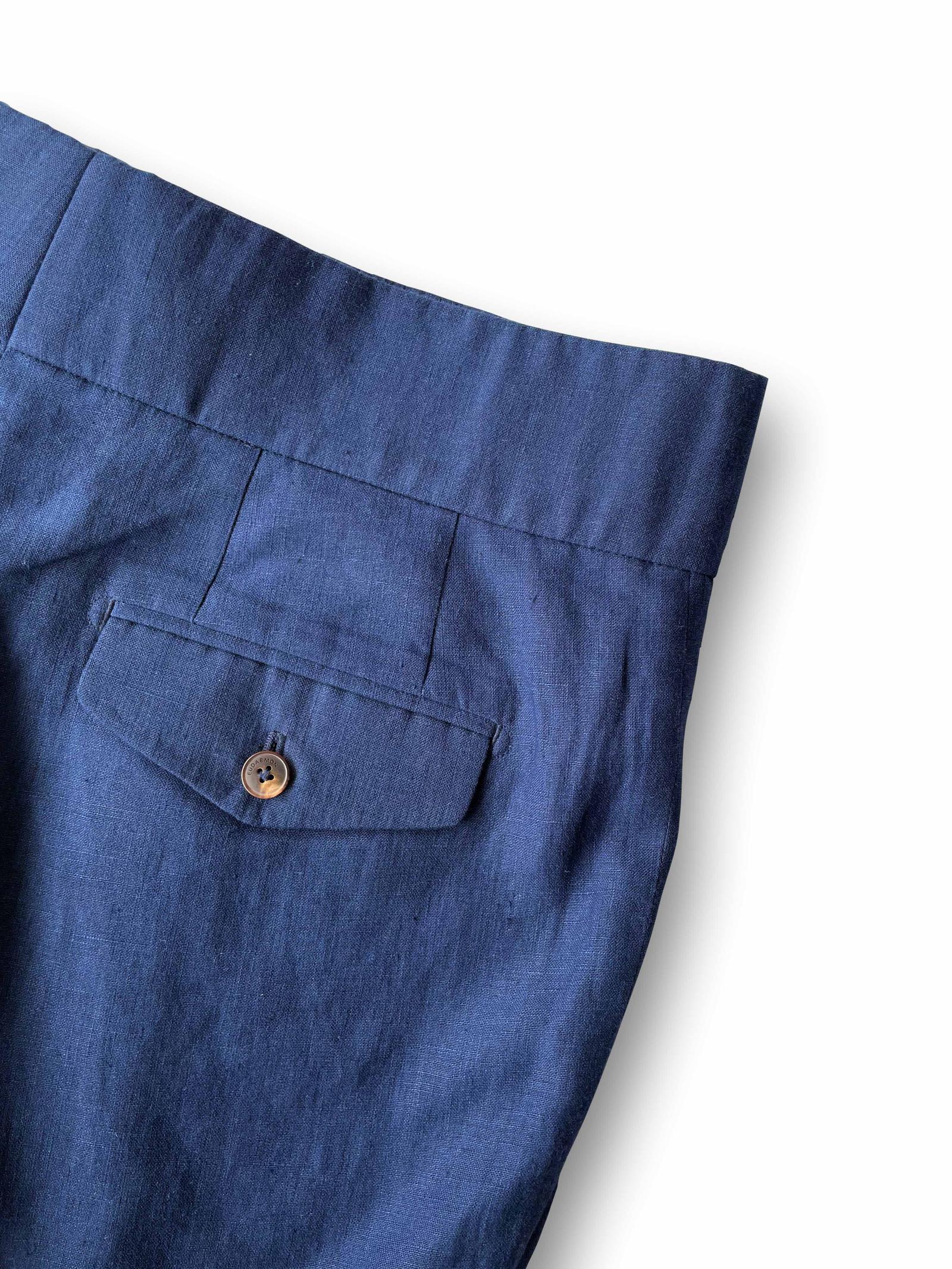 Bahadur Trouser - Royal Blue Linen