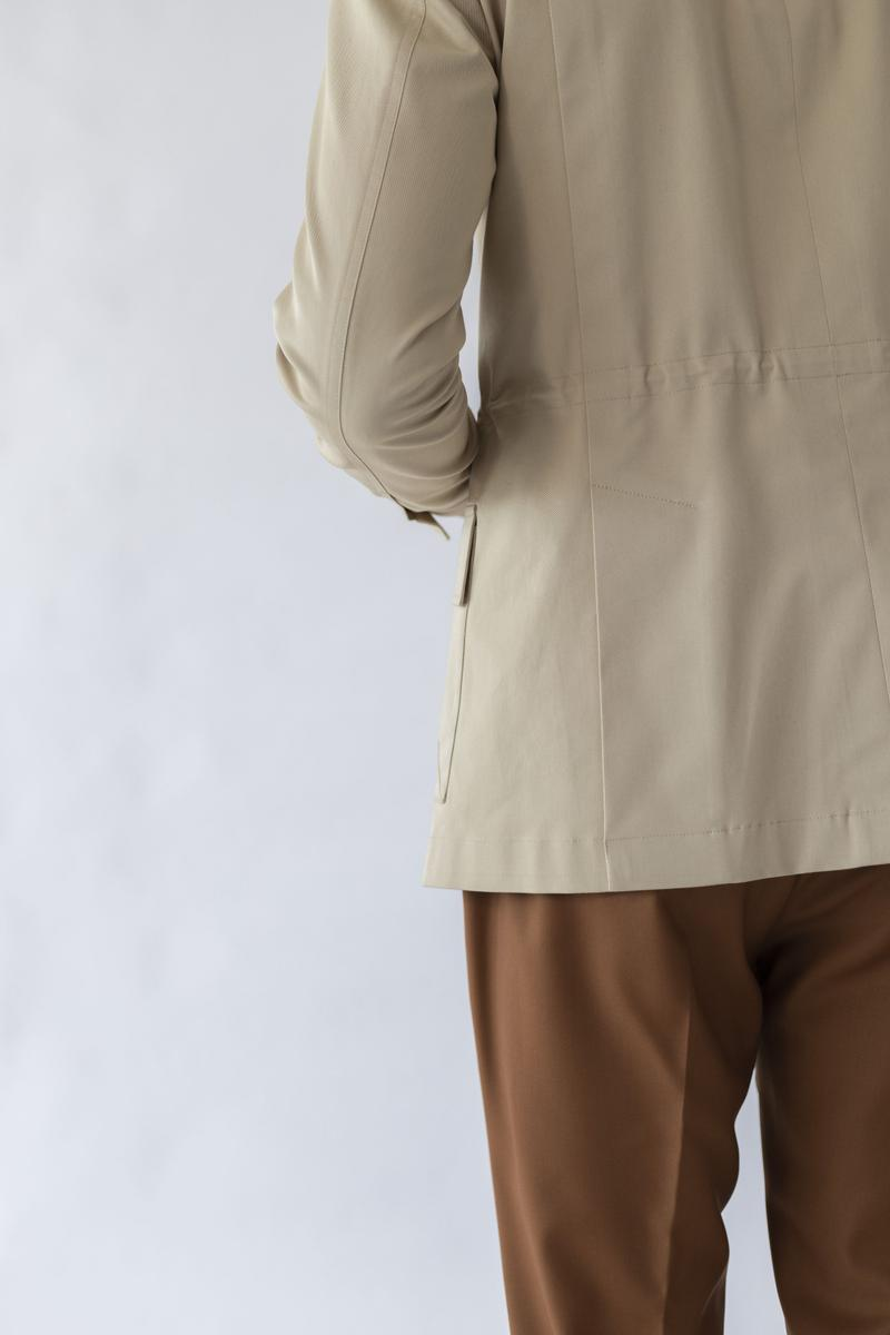 City Safari Jacket - Beige Cotton
