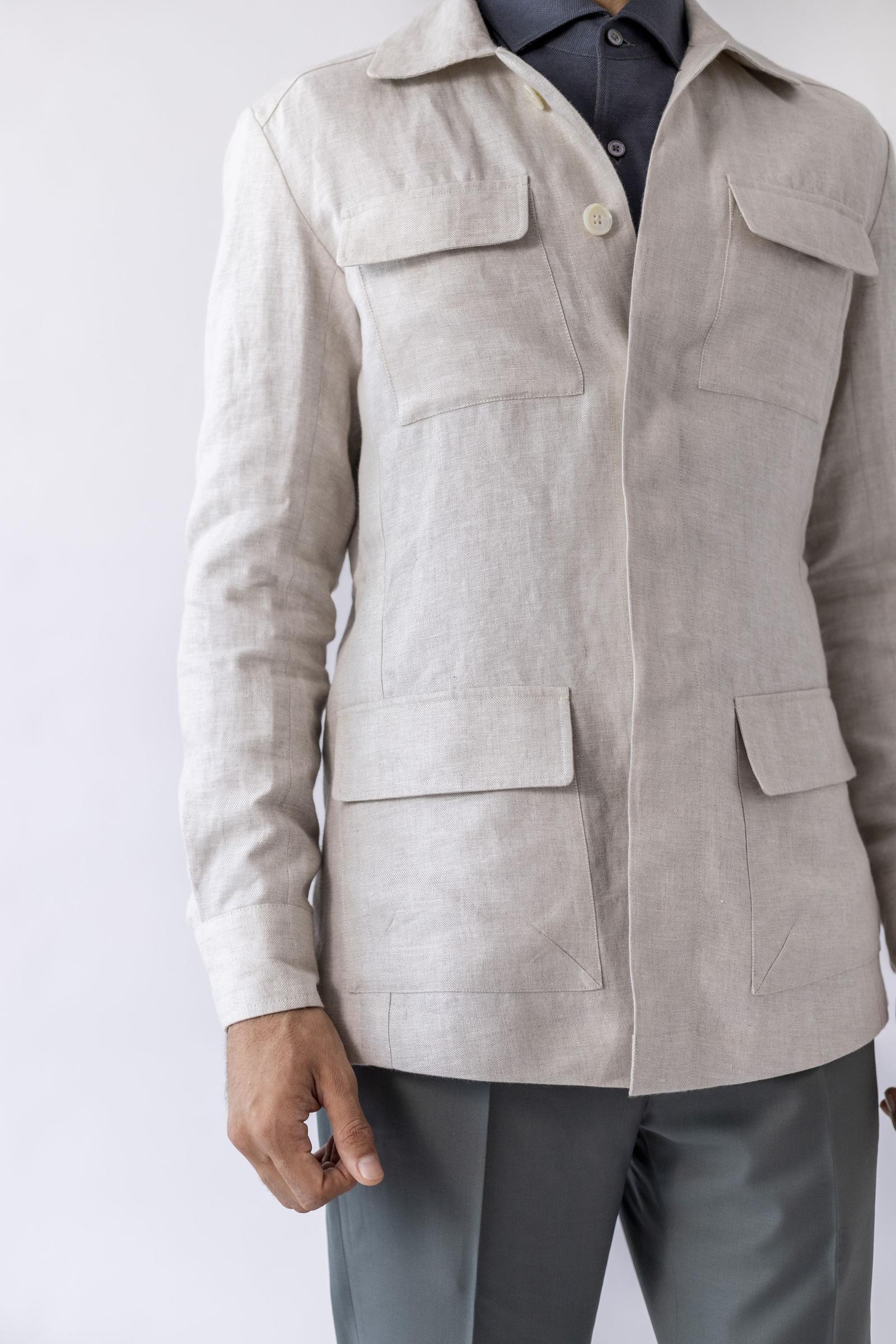 City Safari Jacket - Milk Linen