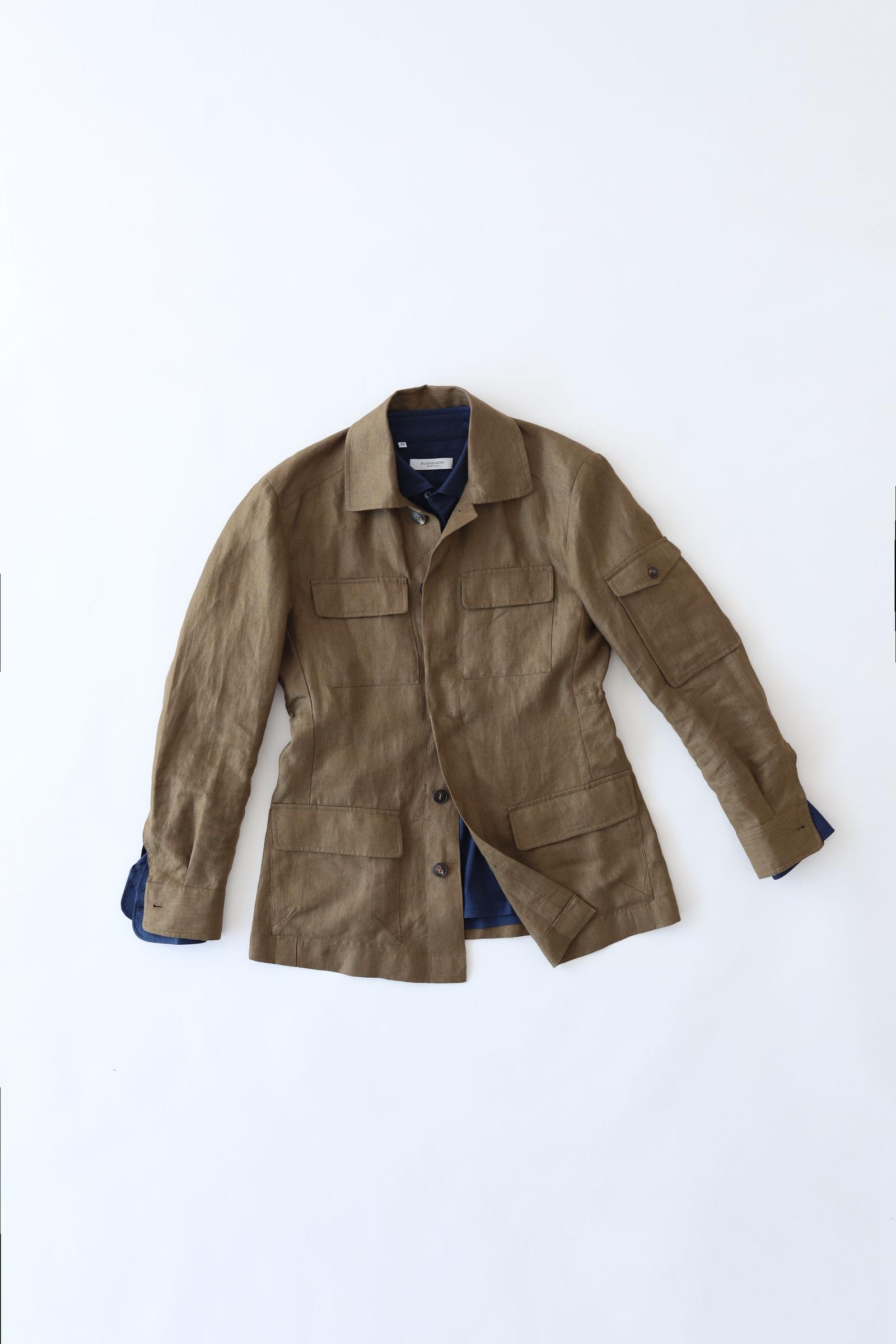 City Safari Jacket - Khaki Linen