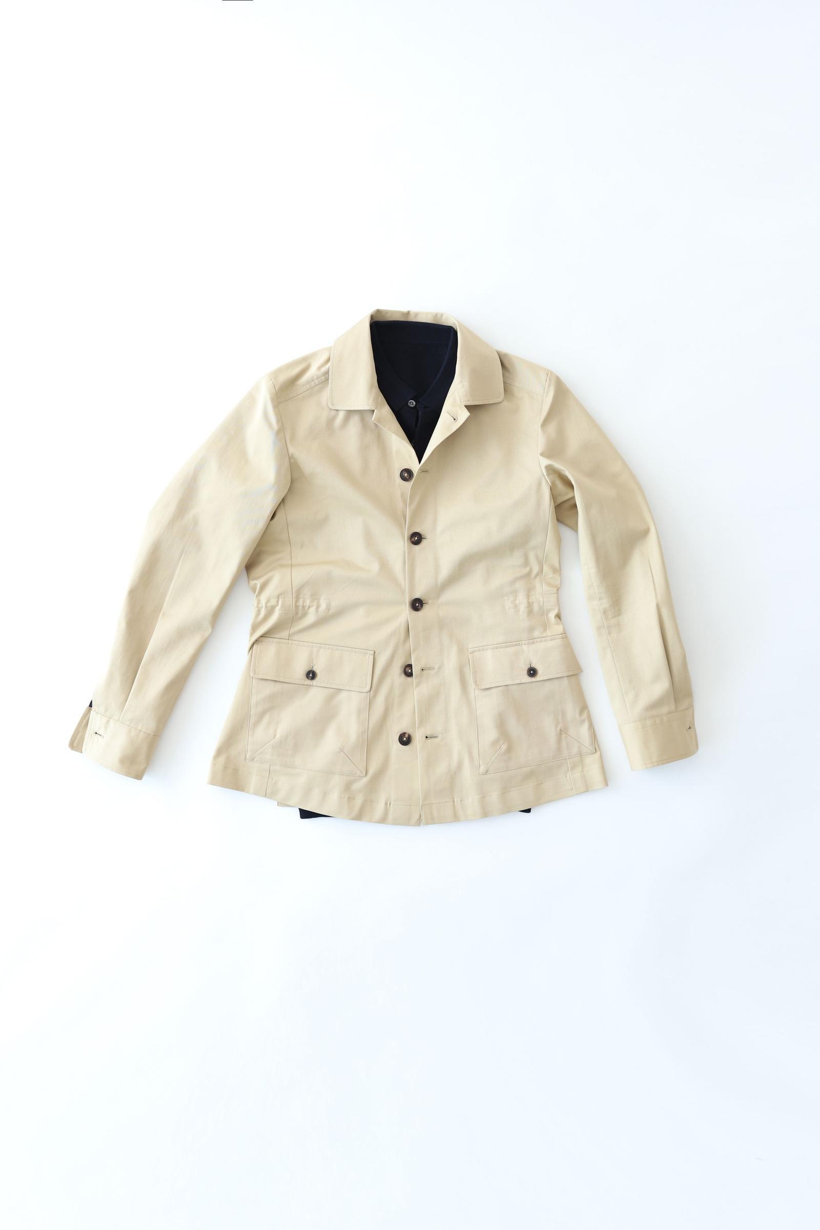 City Safari Jacket - Beige Cotton