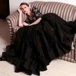 Amit GT Black Embellished Evening Gown (AGTVK03)