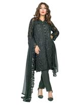 Agha Noor Black Embroidered Kurta with Dupatta (2P_O1294)