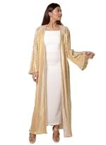 Noir Couture Gold & White Abaya with Dress (NC015)