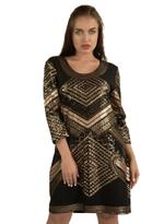 Fifth Season London Black & Gold Short Evening Dress (FS0003)