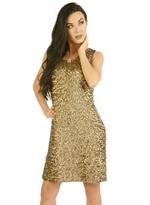 Fifth Season London Gold Short Evening Dress (FS0011)