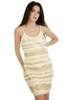 Fifth Season London White & Gold Short Evening Dress (FS0016)
