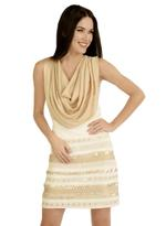 Fifth Season London Off-White Short Evening Dress (FS0175)