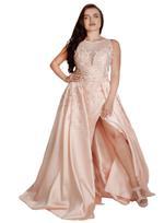 Si Fashion Galerie Peach Evening Gown (1257)