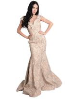 Si Fashion Galerie Gold Evening Gown (01043)