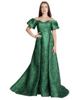 Si Fashion Galerie Green Evening Gown (04006)