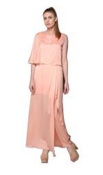 Mandira Wirk Pearl Peach Dress (MW/SS-18/DR-001)