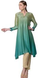 Mandira Wirk Green Ombre Kurta (MW/SS-18/K-004)