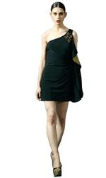 Mandira Wirk Black Dress (MWJD-012)