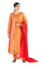 Latha Puttanna Orange Kurta Set with Matching Dupatta (SS18-22)